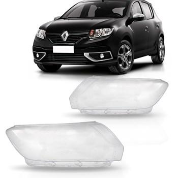 Lente Farol Logan Sandero 2015 A 2019 Renault