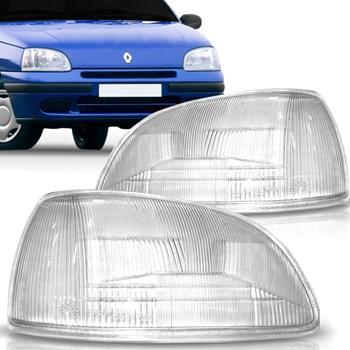 Lente Farol Renault Clio 1996 A 1999