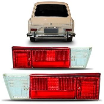 Lente Lanterna Traseira Variant 1962 A 1972 Antiga Vermelha