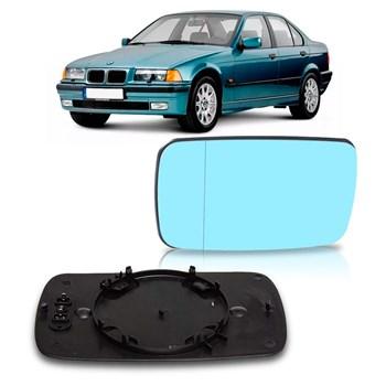 LENTE RETROVISOR BMW SERIE 3 1992 A 1998 LENTE AZUL COM AQUECEDOR