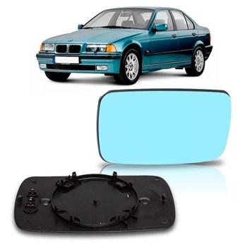 LENTE RETROVISOR BMW SERIE 3 1992 A 1998 LENTE AZUL SEM AQUECEDOR