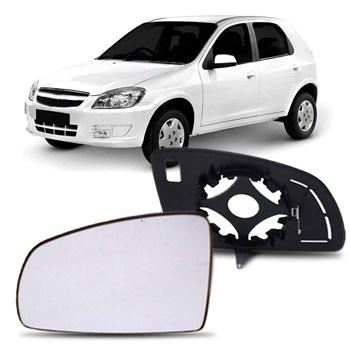 Lente Retrovisor Com Base Chevrolet Celta Meriva Prisma 2007