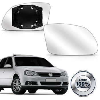 Lente Retrovisor Golf Polo 2008 A 2017 Com Base