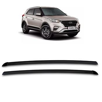 Longarina de Teto Aluminio Hyundai Creta 2016 2017 2018 Preta