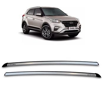 Longarina de Teto Aluminio Hyundai Creta 2016 Á 2018 Prata