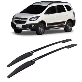 Longarina de Teto Chevrolet Spin Alumínio Preto