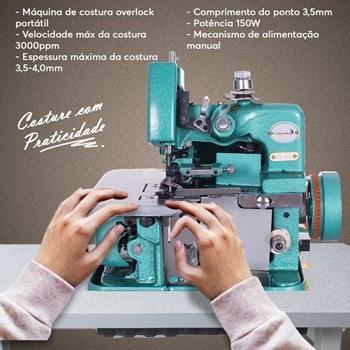 Máquina de Costura Overlock Portátil