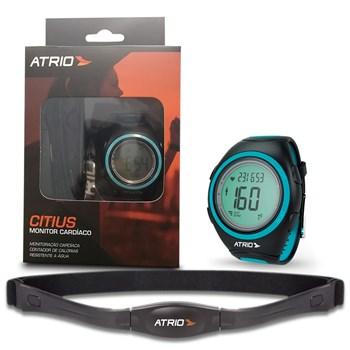 Monitor Cardíaco Multilaser Smart Run a Prova D´àgua Preto com Azul - Es050