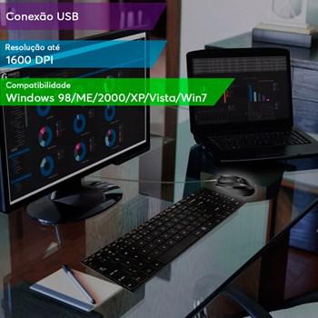 Mouse Gamer Multilaser Rapid 6 Botões 1600DPI - MO164