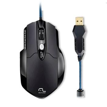 Mouse Gamer Multilaser Warrior 3200DPI  6 Botões - MO191