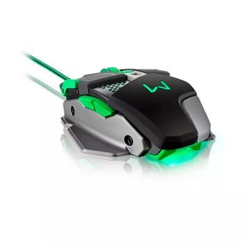 Mouse Gamer Multilaser Warrior 4000DPI Leds Fps Moba - MO249