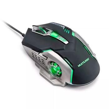 Mouse Led Multilaser 7 Botões 2400DPI Fps Moba - MO269