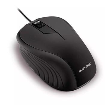 Mouse Óptico Multilaser Emborrachado Preto - MO222