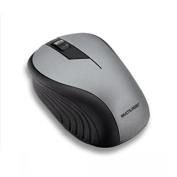 Mouse Sem Fio Multilaser 1200DPI Usb 10m Cinza - MO213