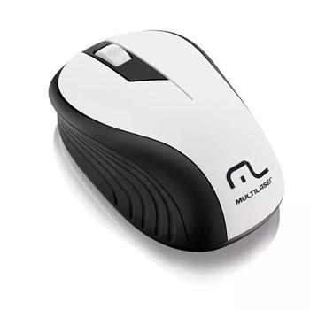 Mouse Sem Fio Multilaser 1200DPI Usb Nano 2.4ghz Branco - MO216