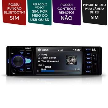 Produto Mp5 Player Multilaser Rock 4 Pol 1 Din Usb Sd Bluetooth Preto