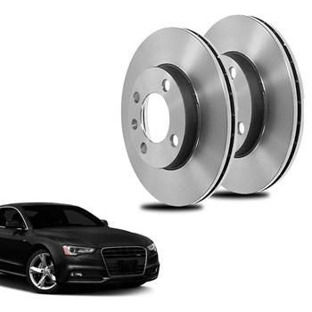 Par Disco De Freio Audi Coupe 1.8 Dianteiro Sólido