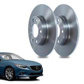 Par Disco De Freio Mazda 6 1.8 2012 A 2019 Traseiro Sólido