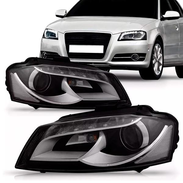 Par Farol Audi A3 Sportback 2009 2010 2011 2012 Eletrico C/led