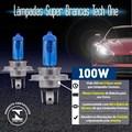 Par Lâmpada Super Branca H7 100W 8500K
