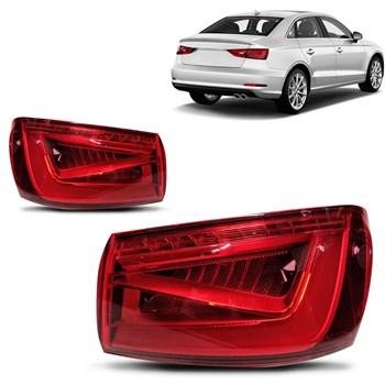 Par Lanterna Traseira Audi A3 2013 2014 2015 2016 Sedan Com Led