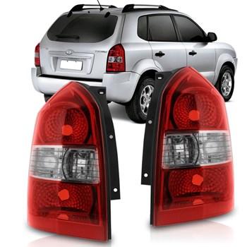 Par Lanterna Traseira Hyundai Tucson 2000 a 2013 Bicolor
