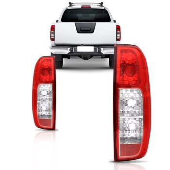 Par Lanterna Traseira Nissan Frontier 2008 2009 2010 2011 2012 2013 2014 Bicolor Sem Soquete