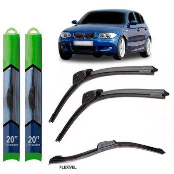 PAR PALHETA LIMPADOR PARA-BRISA BMW SERIE 1 (E81; E87) 2004 2005 2006 2007 2008 2009 2010 2011 SOFT SILICONE