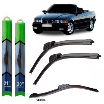 PAR PALHETA LIMPADOR PARA-BRISA BMW SERIE 3 CABRIO (E36) 1993 1994 1995 1996 1997 1998 1999 SOFT SILICONE