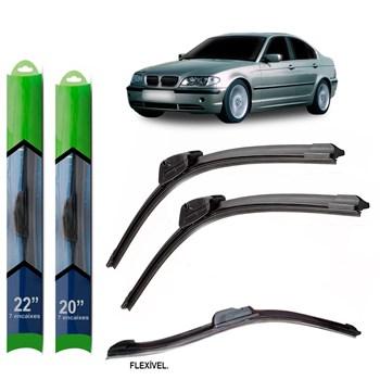 PAR PALHETA LIMPADOR PARA-BRISA BMW SERIE 3 (E46) 1998 1999 2000 2001 2002 2003 2004 2005 SOFT SILICONE
