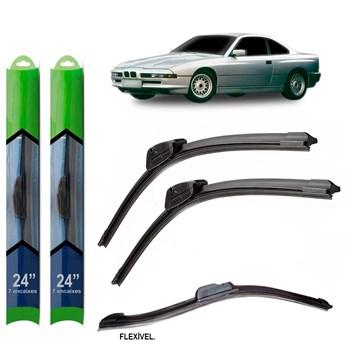 PAR PALHETA LIMPADOR PARA-BRISA BMW SERIE 8 1989 1990 1991 1992 1993 1994 1995 1996 1997 1998 1999 SOFT SILICONE