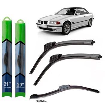 PAR PALHETA LIMPADOR PARA-BRISA BMW SERIE M CABRIO (E36) 1994 1995 1996 1997 1998 1999 SOFT SILICONE