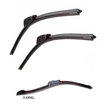 """PAR PALHETA LIMPADOR PARA-BRISA BMW X6 (E71, E72) 2008 A 2012 SOFT SILICONE 24 / 20"""""""