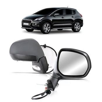 Par Retrovisor Peugeot 3008 2009 2010 2011 2012 2013 2014 Eletrico Retratil Com Pisca Capa Primer