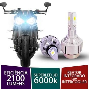 PAR SUPER LED 3D PARA MOTO H4 H7 6000K