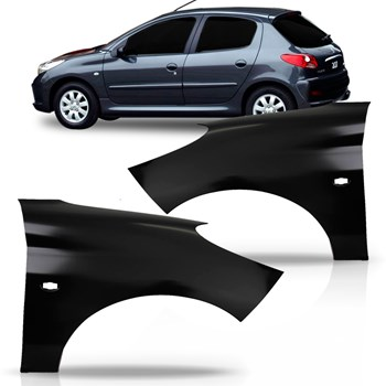 Paralama Peugeot 207 Ano 2008 2009 2010 2011 2012 2013 2014