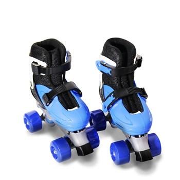 Patins 4 Rodas Roller Ajustável Azul 31 A 38