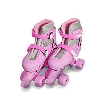Patins 4 Rodas Roller Ajustável Rosa 31 A 38