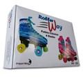 Patins Infantil 4 Rodas Clássico Azul Roller Way