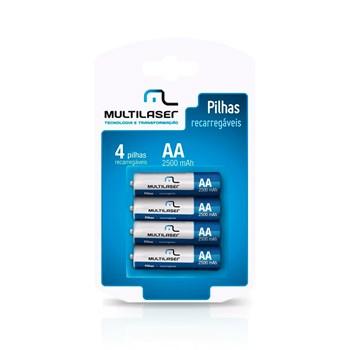 Pilha Recarregavel AA Com 04 Cb052 Multilaser