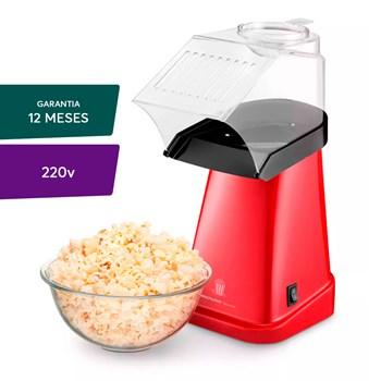Pipoqueira Elétrica Multilaser Gourmet Vermelha - 220v