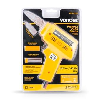 Pistola Para Solda Estanho Kit Psv 0100 127 V Vonder