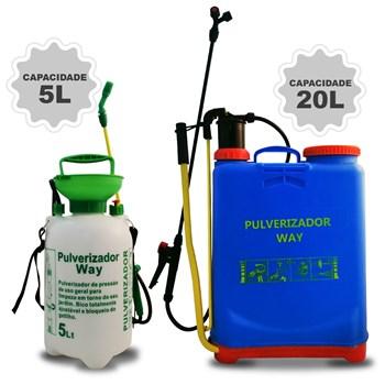 Pulverizador Costal Agricola 20 Litros + Bomba Veneno 5 Litros