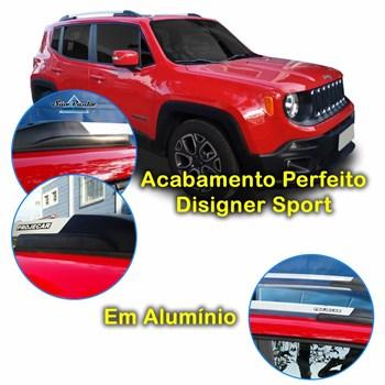 Rack De Teto Longarina Prata Elite Jeep Renegade 2014 2015 2016