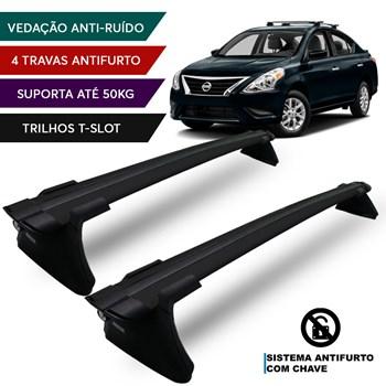Rack De Teto Reese Nissan Versa 2013 A 2017 Preto Premium Antifurto