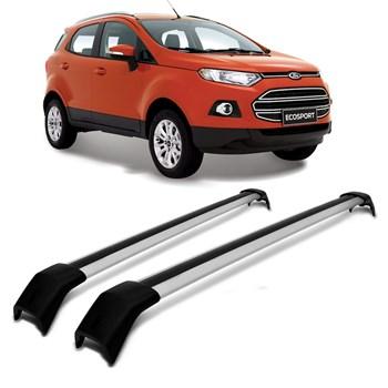 Rack de Teto Travessa Ford Ecosport 2013 2014 2015 2016 2017 2018 2019 Alumínio Prata