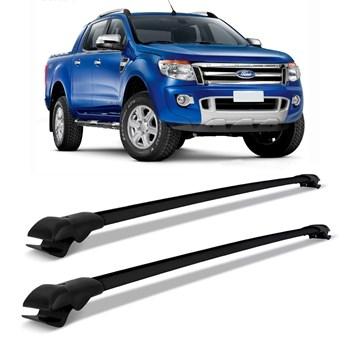 Rack De Teto Travessa Ford Ranger 2013 A 2016 Slim Preto 45 Kg