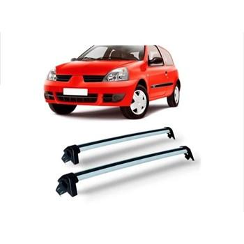 Rack Teto Clio 4 Portas Hatch Sedan Aluminio Preto