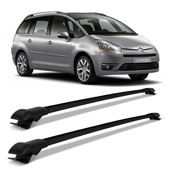 Rack Teto Travessa Citroen Grand C4 Picasso 2007 A 2014 Slim Preto