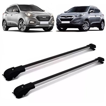 Rack Teto Travessa Hyundai Ix35 10 A 18 Slim Prata Aluminio